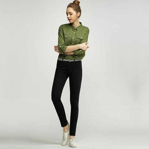 Women Basic Khaki Pants 27