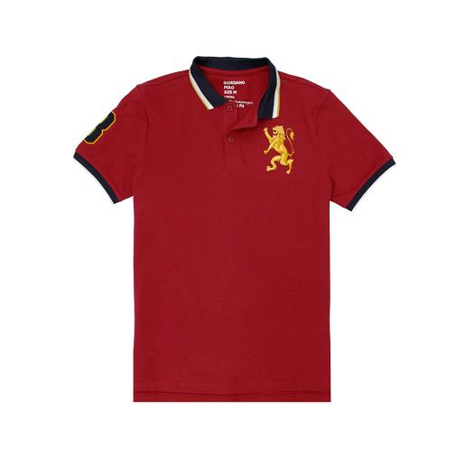 Men's 3D Lion Multi-color Embroidery Polo