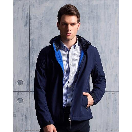 Men's Hooded collar casual jacket