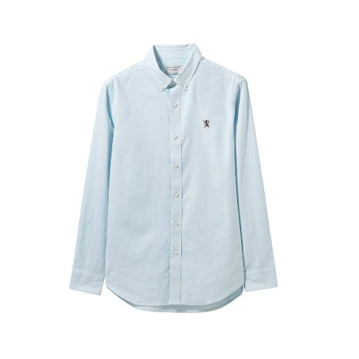 Men's  Oxford shirt with Small Lion Embroidery