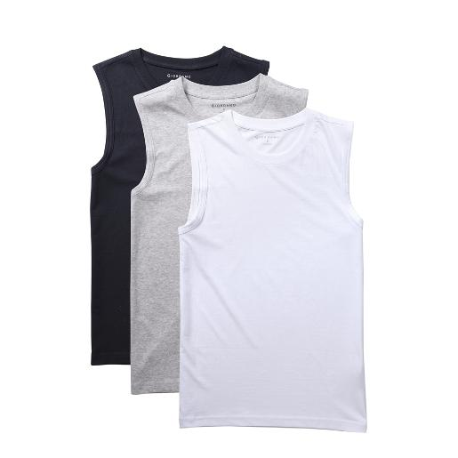Men's Solid U-neck basic slim vests (3-packs)