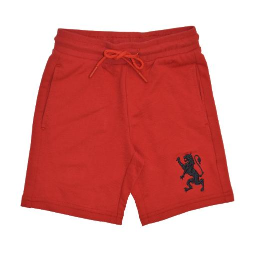 Junior's lion embroidered knit shorts