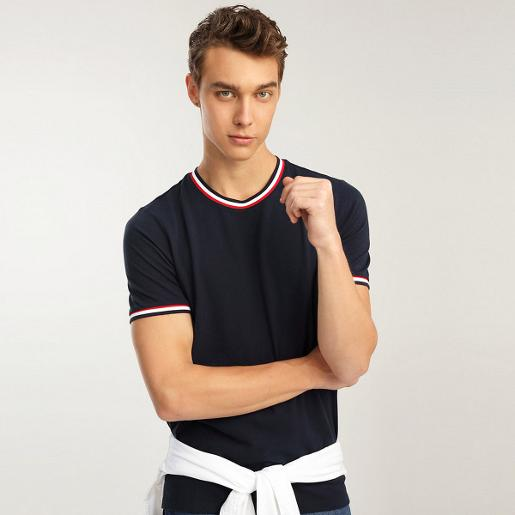 Men's Cotton Pique Crew neck Tee