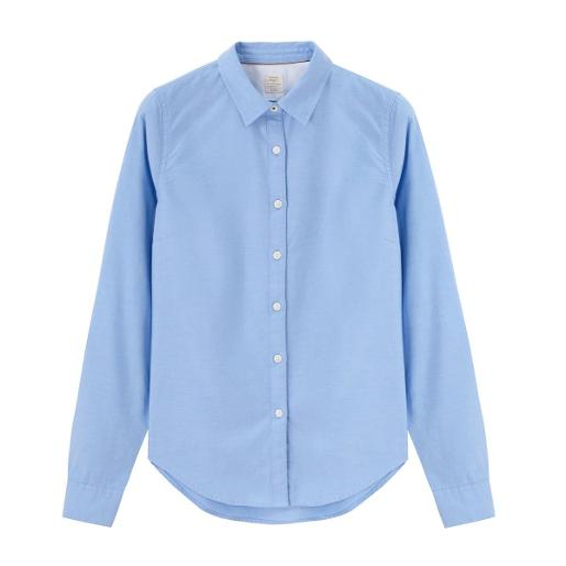 Women Textured Plain Oxford Shirt