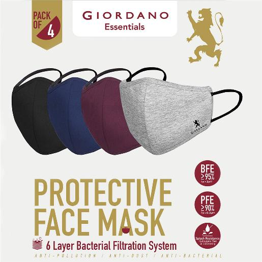Cotton Anti Pollution 6 Layer Reusable Outdoor Face Mask - Pack of 4
